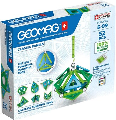 Geomag Магнитный конструктор 52 детали классические цвета 471 Classic Construction