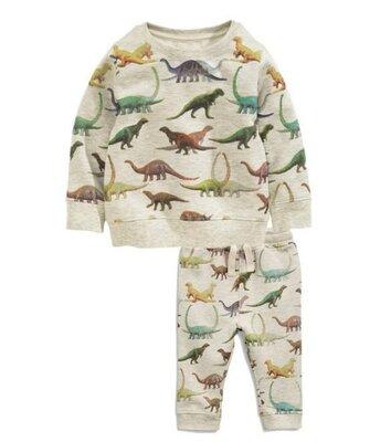 Детский костюм спортивный на мальчика комплект для мальчика кофта штаны дино