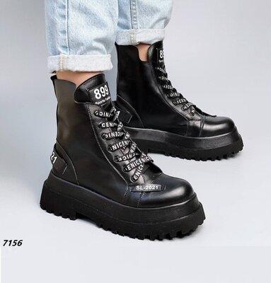 Кожаные женские ботинки демисезон без подкладки, кожаные ботинки,шкіряні черевики 36-38,40р код 7156