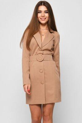Женское платье-жакет бежевое | 51142