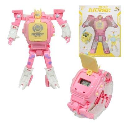 Трансформер-Годинник Electronic , рожевий Dade Toys D622-H068 Часы