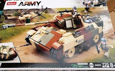 Конструктор Sluban М38-В0859 Армия Военные Танк или Самоходка