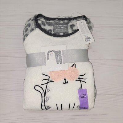 Плюшевая пижама Primark девочке 2-3, 7-8 лет