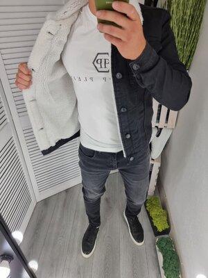 Джинсовий комплектджинси куртка на міху разом або окремо
