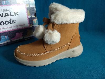 Зимние ботинки на девочку Skechers, размер 35.5