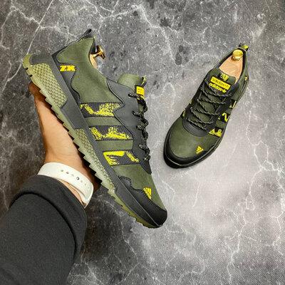 Кроссовки Adidas из натуральной мягкой кожи и нубука