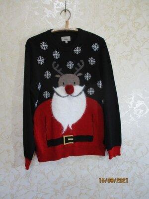 Новогодний свитер санта олень светр новорічний