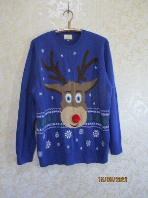 Новогодний свитер с оленем светр новорічний