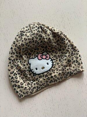 Шапочка hello kitty h&m 110-128 см, 4-8 лет леопард хелло китти шапка фото 2 Шапочка hello kitty h