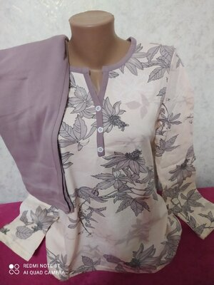 Продано: Пижама женская теплая хлопок на байке с начесом Узбекистан 46