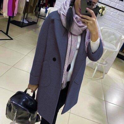 Стильное кашемировое пальто деми