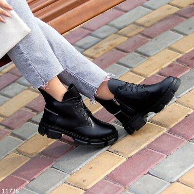 Стильные ботинки натуральная кожа деми
