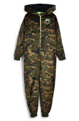 Теплая плюшевая пижама кигуруми Primark мальчику 7-8 лет