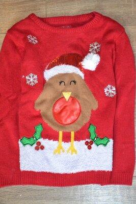 Рождественский свитерок Primark р. 6-7 лет