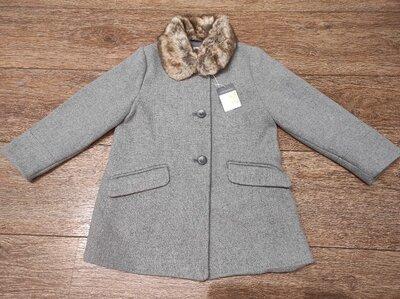 Стильное пальто primark с воротником 5/6 лет