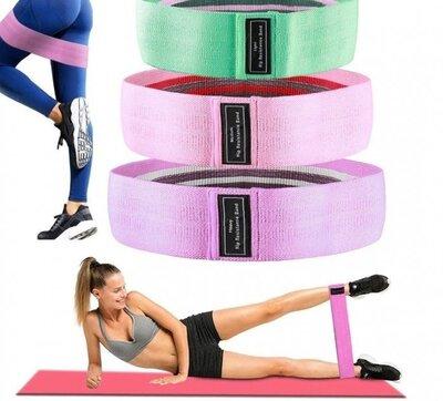 Набор тканевых резинок для фитнеса 3 шт.