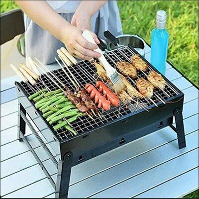 Складной барбекю гриль BBQ Grill портативный мангал BBQ Grill Portable жаропрочный из нержавеющей