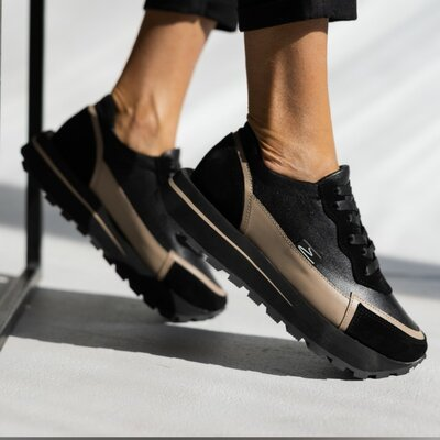 Кожаные женские кроссовки OLLI качество 100%