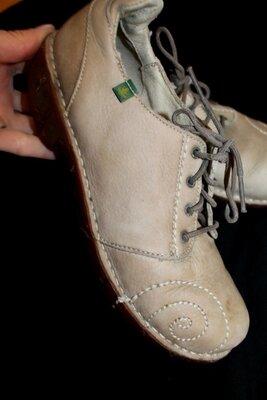 37 разм. Туфли El Naturalista. Кожа длина по внутренней стельке 24 см., ширина подошвы 9 см., высота