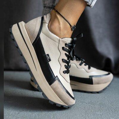 Кожаные женские кроссовки OLLI качество 100% с нат. кожи
