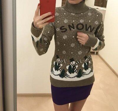 Распродажа продам новый зимний теплый свитер снежок