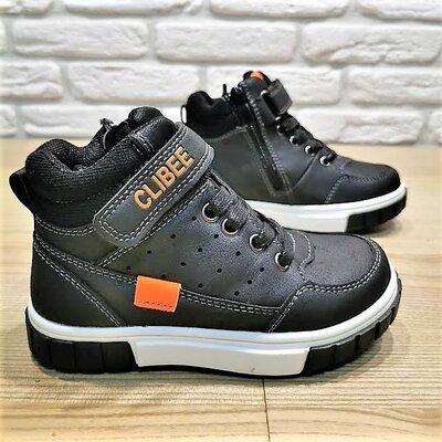 Деми ботинки Clibee P539bo черный размеры 26-31