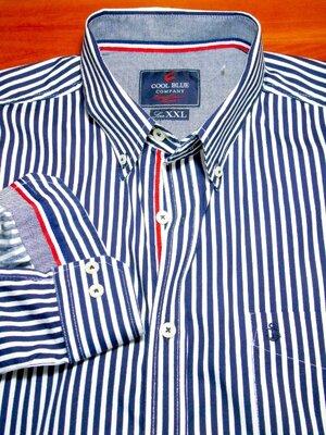 Продано: COOL BLUE Шикарная брендовая рубашка в полоску - XL - XXL