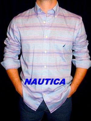 NAUTICA Шикарная брендовая рубашка - M - L