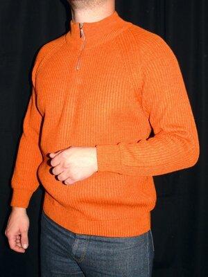Продано: GREEN LEAVES Шикарный свитер Шерсть кирпичного цвета - M - L