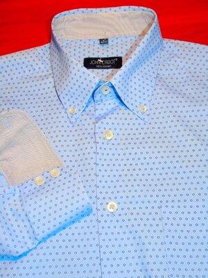 JOHN CABOT Шикарная брендовая рубашка в принт - XL - L