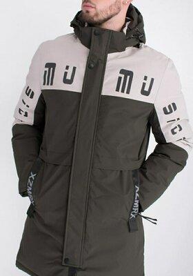 Мужская зимняя двухцветная куртка