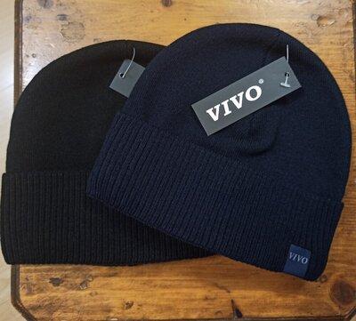 чоловіча шапка мужская шапочка с отворотом. тонкая утепленная флисом. цвет черный, синий Чорна синя