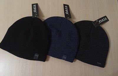чоловіча шапка мужская шапочка без отворота. тонкая на флисе. черная, синяя, серая. Новая нова чорна