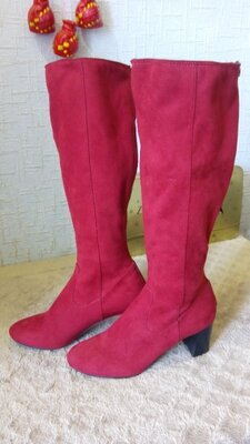 Сапоги высокие красные женские gerry weber, 40 6,5