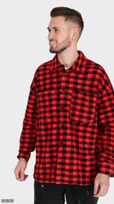 Мужская рубашка в клетку S, M, L, XL