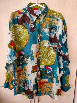 Продано: Рубашка шелковая винтаж