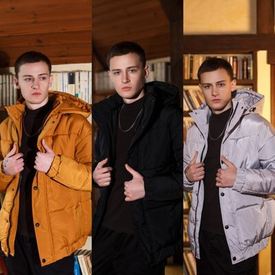 Мужская куртка зимняя Оверсайз S-XL