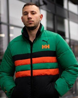 Зимний мужской пуховик Helly Hansen x Puma черный 07