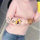 Очень красивые свитера с вышивкой. Цвета. Замеры.