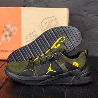 Продано: Мужские кожаные кроссовки Jordan Green