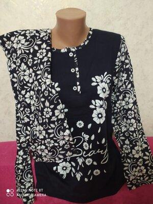 Домашний костюм или пижама женская реглан штаны Узбекистан 48,50,52