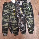 Якісні зимові штанішки джогери на меху в стилі мілітарі фірми Золото Якісні зимові штанішки джогери