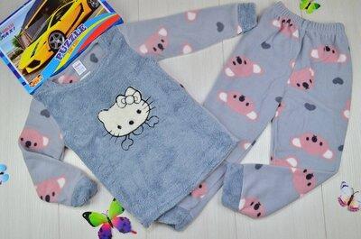 Теплая пижама на 5-7 лет