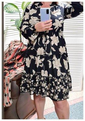 Платье в цветы Fat Face вискоза р. S