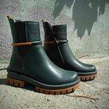 Зимние женские ботинки из натуральной кожи. Зимові жіночі шкіряні черевички.